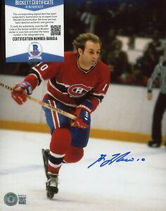 Guy Lafleur Ice Hockey Signed 8x10 Photo AUTO Autograph Beckett BAS COA
