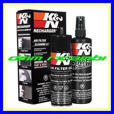 Kit Pulizia K&N per Filtri Sportivi cotone AUTO filtro lavaggio ripristino KN