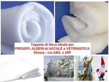 TAPPETO di NEVE in OVATTA Cm.240x45 per PRESEPE ALBERO NATALE VETRINISTICA 78045