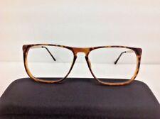 Tigieffe Occhiale Da Vista Vintage 1980 Miele Marrone Plastica Grande Quadrato