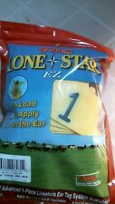 Y-Tex 0512-001 Lone Star Ez Ear Tags, Large, Yellow, 25 ct, Fs