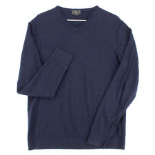 H&M 100% Merino Wool Navy Blue V Neck Pullover Sweater Youth Boys XL