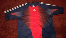 Mens Adidas Sports T-Shirt uk 42/44 - Blue/Red/White