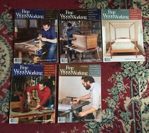 FINE WOODWORKING MAGAZINE   LOT OF 5  YEAR 1989