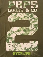 PRPS GOODS CO Dirty Army Green Mens ( XL ) Extra Large T Shirt $98+100% Cotton