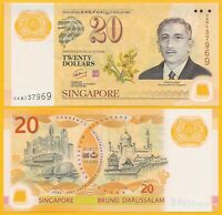 Singapore 20 Dollars p-53(1) 2007Commemorative UNC Polymer Banknote