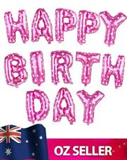 """HAPPY BIRTHDAY Foil Letters Balloons set For Party Decoration 16"""" PINK NEW"""