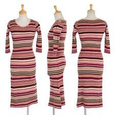 (SALE) TSUMORI CHISATO multi stripe wool dress Size M(K-24598)