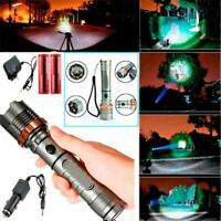 2000LM CREE XM-L T6 LED Rechargeable Flashlight Zoom Torch + 2x 18650 + Charger