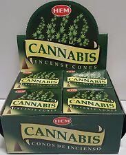 6 Boxes (60 Pcs) of HEM Incense Cones Cannabis
