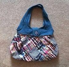 Denim and Patchwork Handbag Purse