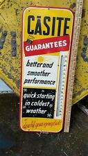 Vintage Casite Gas Oil Thermometer Automotive Advertising Station