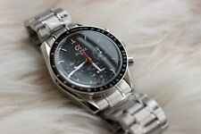 Alpha Speedmaster Watch Chronograph Black Dial Mens Gents Steel Strap Ltd Ed