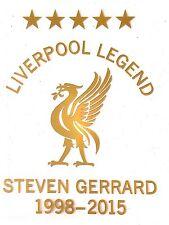 Camisa Casa Leyenda De Liverpool Gerrard #8 Fútbol Balonpié Detalles de logotipo de impresión en el pecho