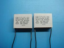 (2) VISHAY ERO F1774-522-2000 2.2uF X2 275V MKT RADIAL SUPPRESSION CAPACITOR