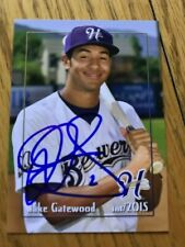 Jake Gatewood 2015 Signed Helena Brewers Team Card