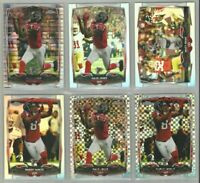 Atlanta Falcons 6 card 2014 Topps Chrome REFRACTORS/XFRACTORS lot-all different