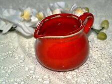 Sahnekännchen kleines rotes Kännchen Keramik rot Dawanda