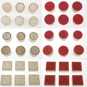 6 Stück Gummistempel Holzstempel Dekostempel Motivstempel Basteln Stempel Set
