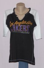 Majestic Los Angeles Lakers Women's Prowess 3/4 Sleeve T-Shirt M