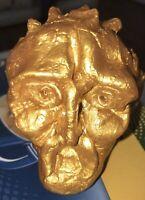 Margarita Bonke Malerei PAINTING Art Objekt Skulptur Deko Figur Van Gohg Gold Om