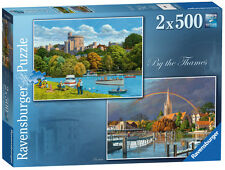 BY THE THAMES 2 X 500 PIECE JIGSAW PUZZLE RAVENSBURGER
