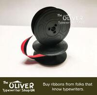 OLIVETTI TYPEWRITER RIBBON Black and Red: M44, 132,  Valentine  **High Quality**