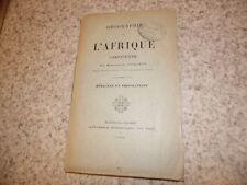 1894.Géographie afrique chrétienne.Byzacène Tripolitaine.Toulotte
