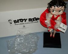 "1995 Danbury Mint 16"" Betty Boop Porcelain Collector Doll With Red Dress MIB"