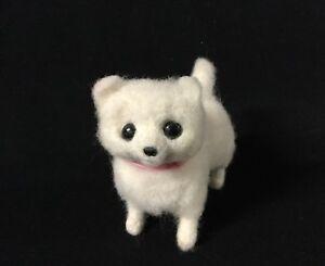 Pomeranian Chihuahua Dog Felt Felted Wool Hand Made