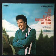 ELVIS PRESLEY Elvis' Christmas Album UK INT1126 GREEN RCA 1970 VINYL MONO LP EX