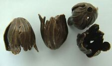 Laiton antique bouchon pampille fleur tulipe Fuchsia Flourish Vintaj X 1pr