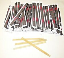 More details for 10 - 100 pairs wooden bamboo chopsticks chinese food chop sticks stir fry party