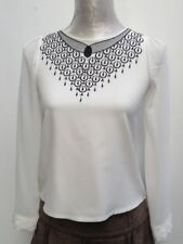 Blouse / Top Formal, Embroidered Rich Chiffon 3 Quarter Sleeve   Size - S   C37
