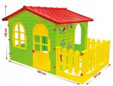 XXL Kinder Spielhaus mit Tarase Kinderspielhaus Gartenspielhaus Garten Haus190cm