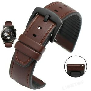 22mm Leather/Silicone Band Strap For Huawei Watch GT Samsung S3 46mm Amazfit 2S