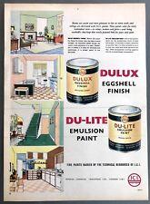 DULUX PAINT - Vintage Magazine Advert (1950s) Eggshell, Emulsion, Home Decor *
