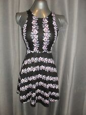 5570dad79b6 H M size XS poly elastane black tank dress with floral print in VGC