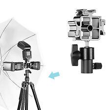 Neewer Aluminum Alloy 3-Way Hot Shoe Mount Adapter Swivel Tilt Umbrella Holder