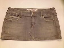 Hollister Mini Jean Skirts Women's 3 Gray Distressed Stretch Classic 5 Pockets