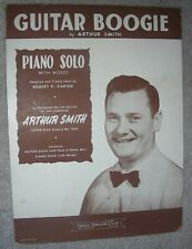 1946 GUITAR BOOGIE Vintage PIANO SOLO (with Words) Sheet Music by ARTHUR SMITH