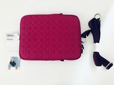 "Belkin Pink Magenta Quilted iPad Laptop Case Medium 7"" Inch Crossbody New W Tags"