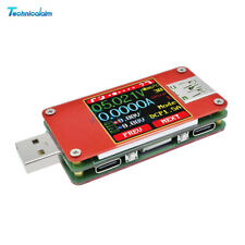 "1.44"" UT25 USB-C LCD Full Color Current Voltage Power Capacity Meter Tester 5A"