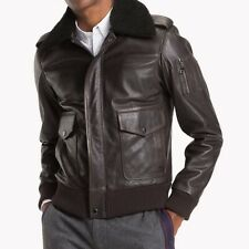 TOMMY HILFIGER Men's Leather Bomber Jacket