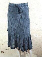 CAROLL Taille 36 Superbe jupe grise en coton mélangé grey skirt