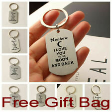 Personalised Gifts For Him Her Mum Auntie Sister Brother Dad Son Keyring UK Stok
