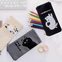 Funny Cute Cat Cartoon Pencil Case Kawaii Stationery Pouch Bag Storage Pen I6T2