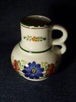 Rare Antique Wechsler Tirolkeramik SCHWARZ/AUSTRIA Ivory/White Ceramic Creamer