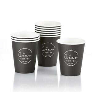 2,000 x 8oz Takeaway Ciao Coffee Cups + 5Kg Espresso Coffee Beans - 30% DISCOUNT