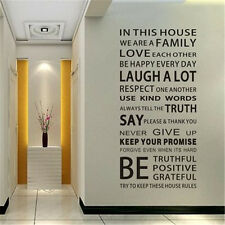 Great Wall Decal Quote In this House We Are Family Text Stairs Decor Stickerし